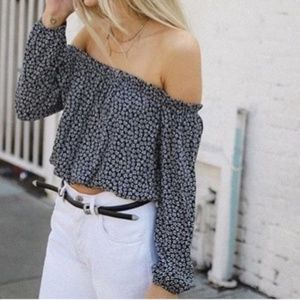 NWT Brandy Melville Maura Off Shoulder Floral